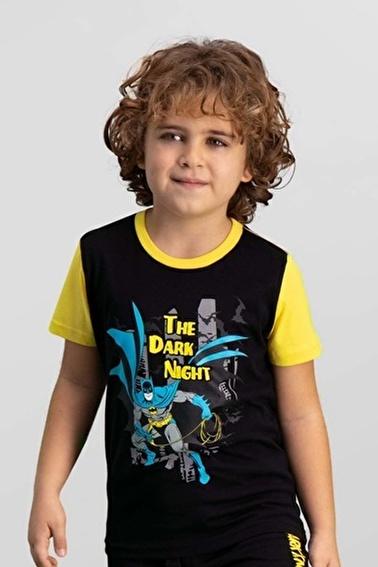 Batman Batman Lisanslı Turkuaz Erkek Çocuk T-Shirt Siyah